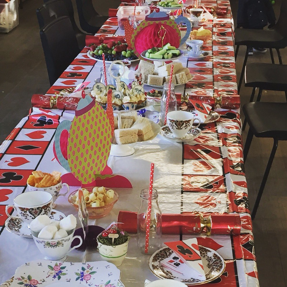 "Debbie Jones on Twitter: ""Setting up for Sat's Mad Hatters Christmas Party in #hernebay We had a huge party with lots of silly games #Madhatter ..."