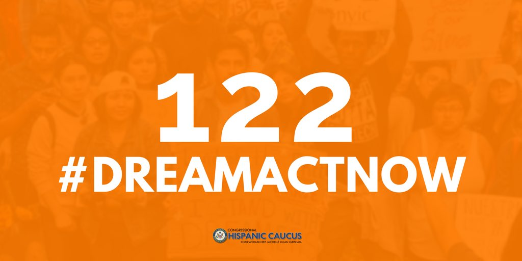 Today marks 102 days since @POTUS ended #DACA. As of this morning, 12,522 young people have lost protections. We must bring the #DREAMAct to the Floor to #ProtectDREAMers. 122 young people lose status every day Congress doesn't take action. #DREAMActNowNhttps://t.co/sjElp8L9oeow