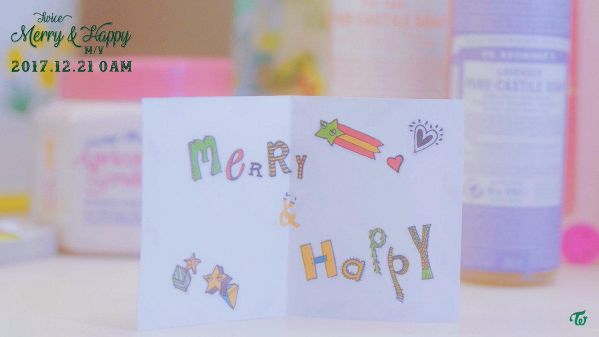 TWICE Merry & Happy  Music Video  2017.12.21 0AM  #TWICE #트와이스 #메리앤해피