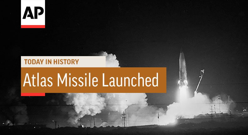 #OTD In 1957, the United States successfully test-fired the Atlas intercontinental ballistic missile for the first time https://t.co/LZhM7cuMnj