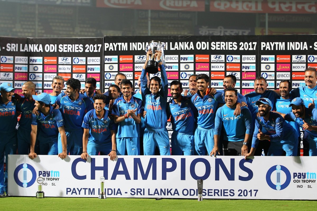 An 8th consecutive ODI series win for India!