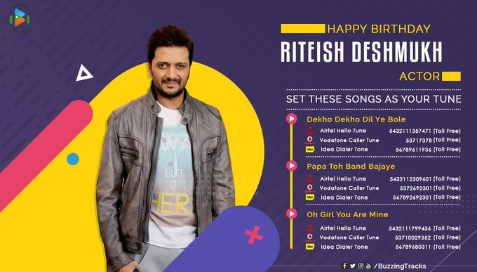 Wishing a very Happy Birthday to Riteish Deshmukh! Drop your wishes for the actor below.