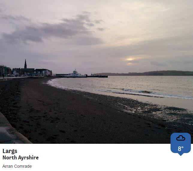 Ferry for Millport anyone? Firth of Clyde lacking its usual sparkle, but at least it's stopped raining. @BBCWthrWatchers Phil
