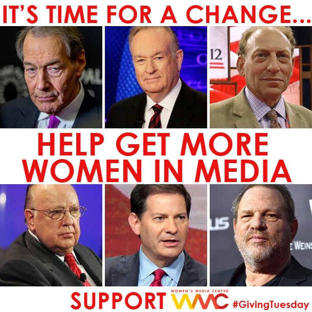 Let's change this picture!  Help us get more women visible &  powerful in media. SIGN UP & JOIN the Women's Media Center HERE: http://bit.ly/2i2M7AJ #MeToo #SexualAssault