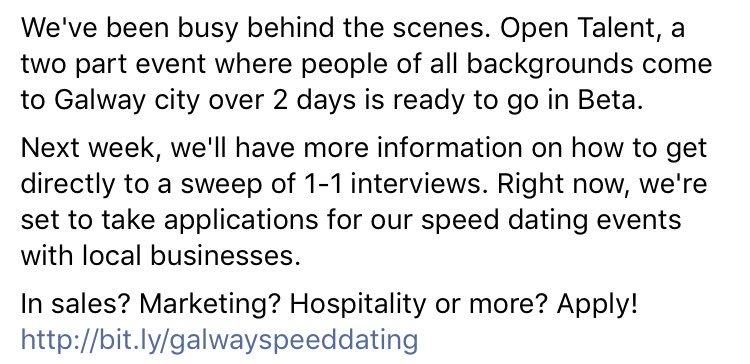 Startup speed dating night
