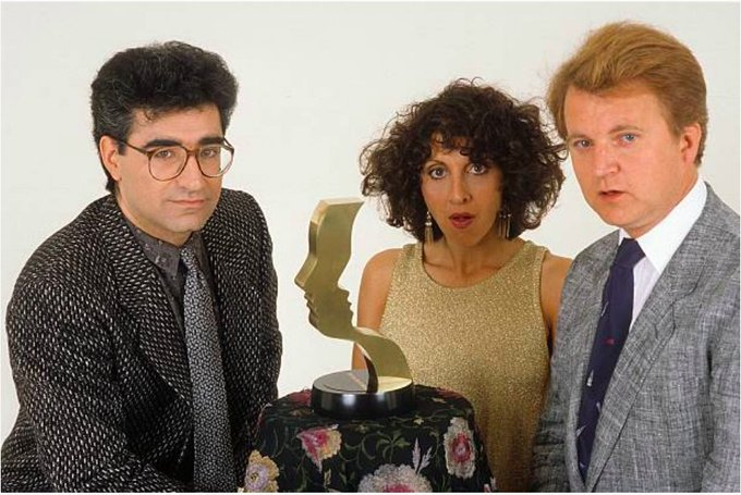 Happy birthday Eugene Levy. With his SCTV colleagues Andrea Martin & Dave Thomas Donaldson Collection, 1980