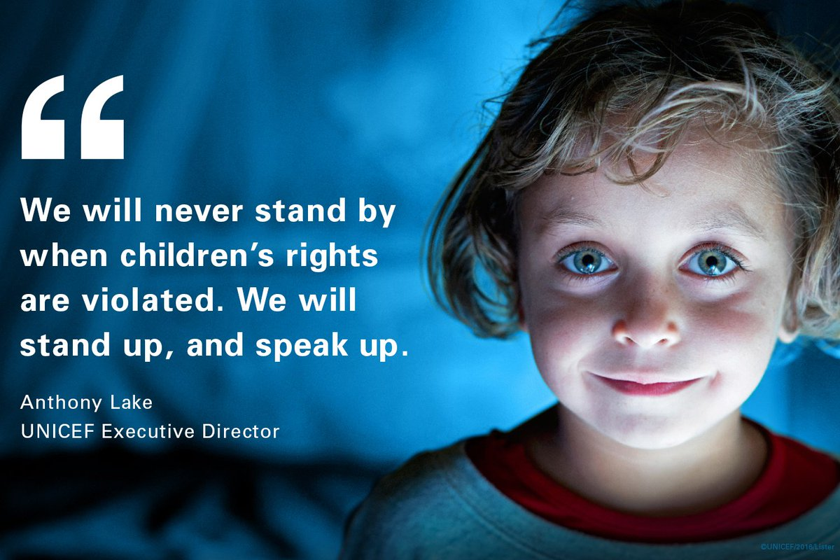 Stand up. Speak up.  Today. #ForEveryChild
