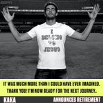 Kaka has announced his retirement.  A true legend...