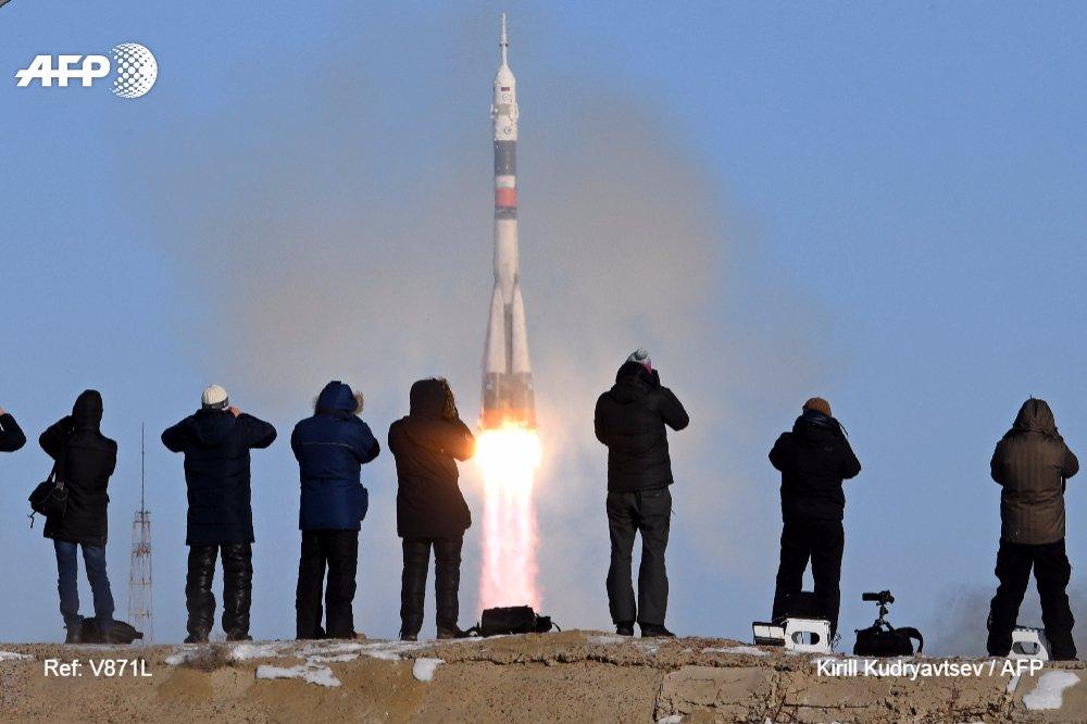 🚀 Un cohete ruso Soyuz con tres astronautas a bordo despega con destino a la Estación Espacial Internacional #AFP https://t.co/r7DMjAqSCS