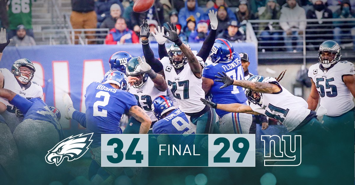 12-2. First-round bye clinched.  #FlyEaglesFly