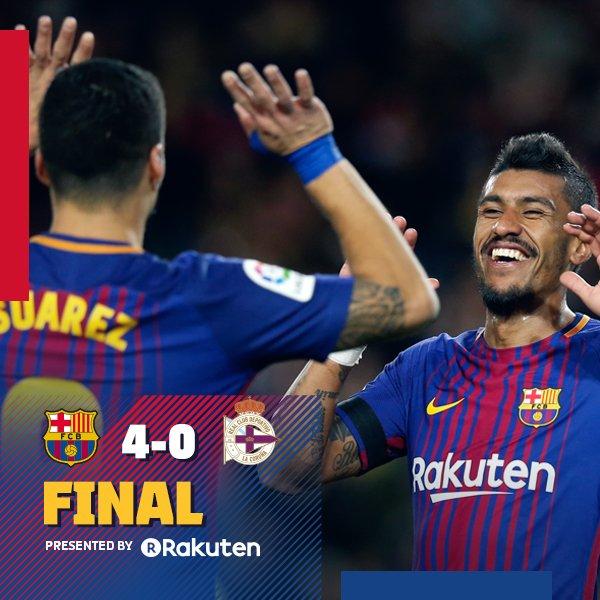 Chấm điểm trận Barcelona 4-0 Deportivo