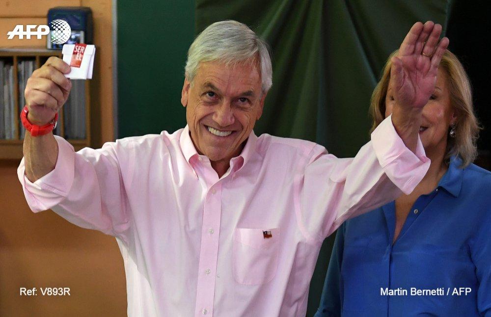 🇨🇱 #ÚLTIMAHORA Piñera lidera con 53,6% el balotaje en Chile, con 9,55% de las mesas escrutadas (Servel) #AFP
