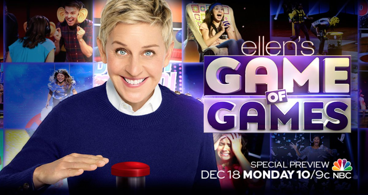 Tomorrow is a special preview of my new prime time game show #GameofGames at 10pm on NBC! I can't imagine anything bigger, wilder, or funner you could do with your Monday night.