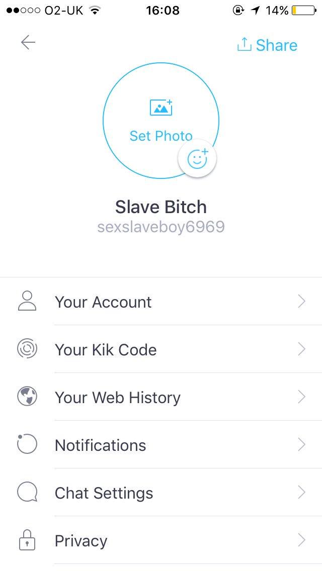 Gay kik slave