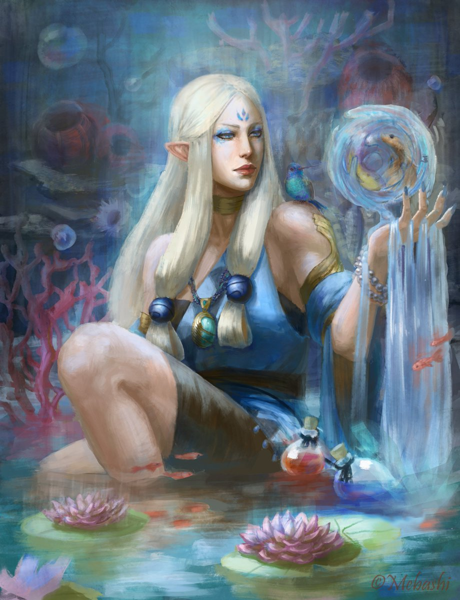 Alex Art Mebashi On Twitter Water Priestess Original