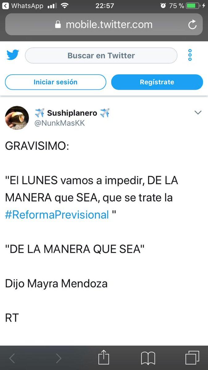 RT @ingarbot: Sra @PatoBullrich a #MayraMendoza deténgala o haga algo. Hay un artículo en el Código Penal para esto. https://t.co/Dd1FeE8gje