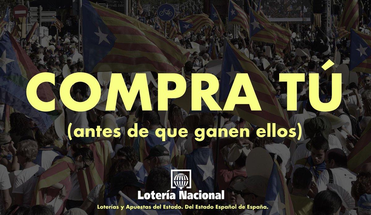 """El anuncio de la Lotería de este año tiene como lema """"Compra antes de que le toque a un catalán"""" https://t.co/6xBBVfNznr"""