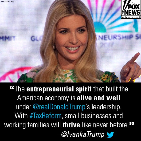 .@IvankaTrump has expressed her enthusiasm for the GOP tax reform bill, which Treasury Secretary @stevenmnuchin1 told @FoxNewsSunday will pass this coming week. https://t.co/fMDkBs6Mjq