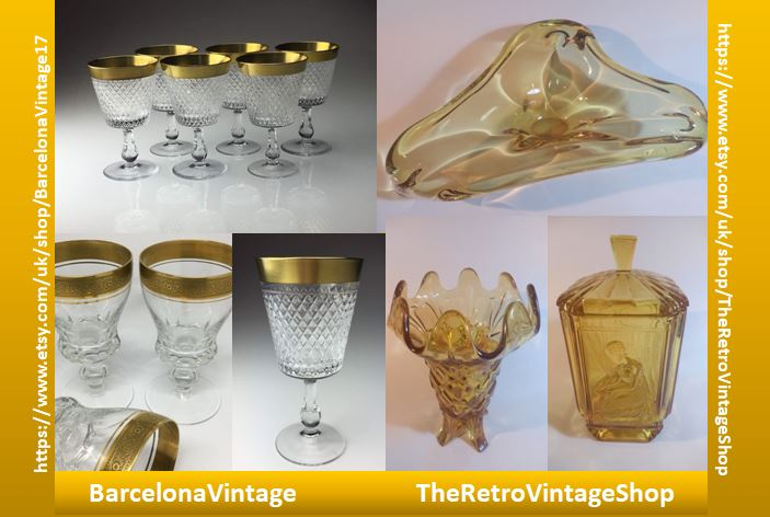 #Collaboration white &amp; gold glass with @BcnVintage17 both on #etsy  https://www. etsy.com/uk/shop/Barcel onaVintage17 &nbsp; …  &amp;  https://www. etsy.com/uk/shop/TheRet roVintageShop &nbsp; …  check us out for your #christmasgiftideas #vintage #glass @artglass #vogueteam #UK #London #Glasgow #Cardiff #USA #NYC #Canada #Barcelona #Europe #Oz #USSR #RT <br>http://pic.twitter.com/SusDiqqWqw