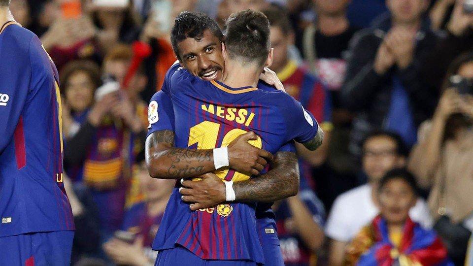 هدف برشلونة الثاني عن طريق باولينيو