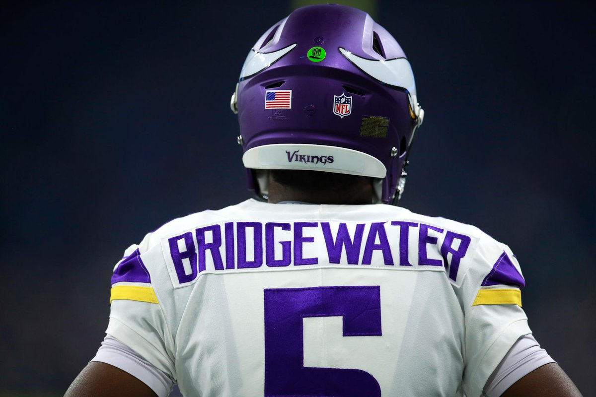 Now in at QB for the @Vikings, @teddyb_h2o! #SKOL