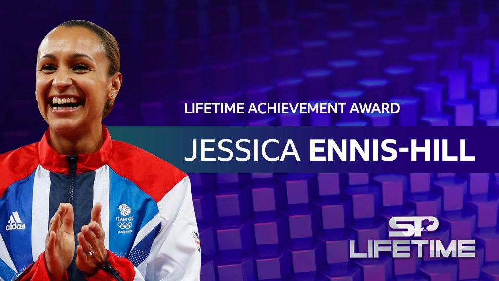 What a career Dame Jessica Ennis-Hill has had.  An Olympic gold and silver in the heptathlon ✅ Three world championship golds ✅  She's been honoured with the Lifetime Achievement award at #SPOTY . Congratulations 👏👏👏 https://t.co/J5Un4g5oDM