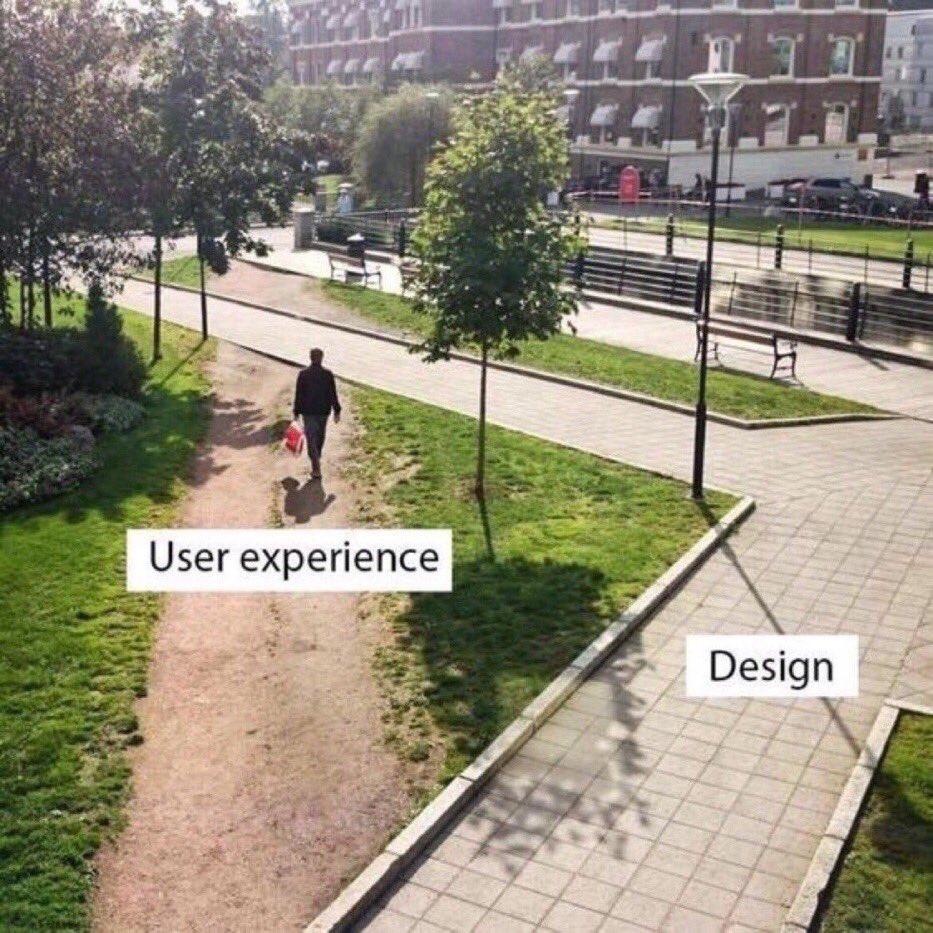 User experience vs. design. @ValaAfshar