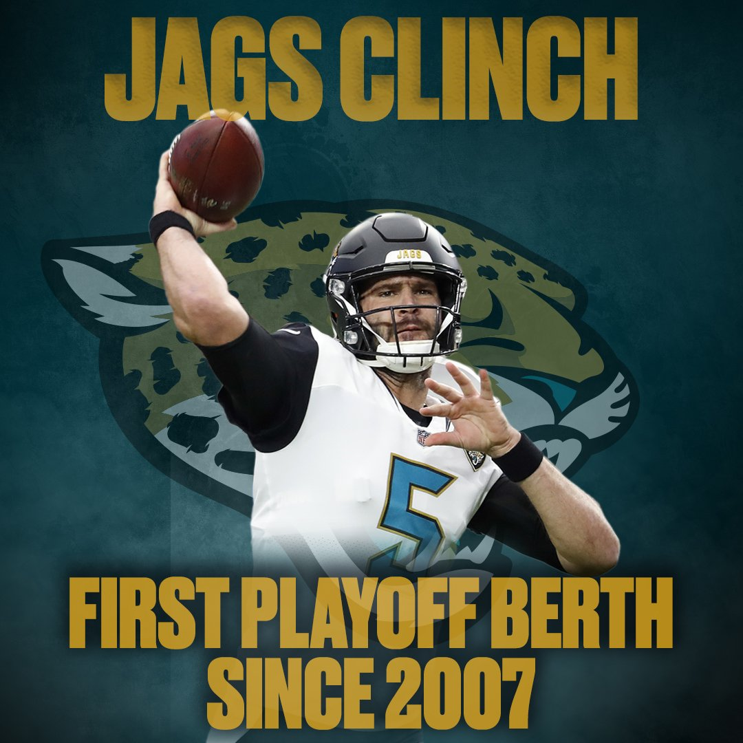 The #Jaguars are playoff bound!