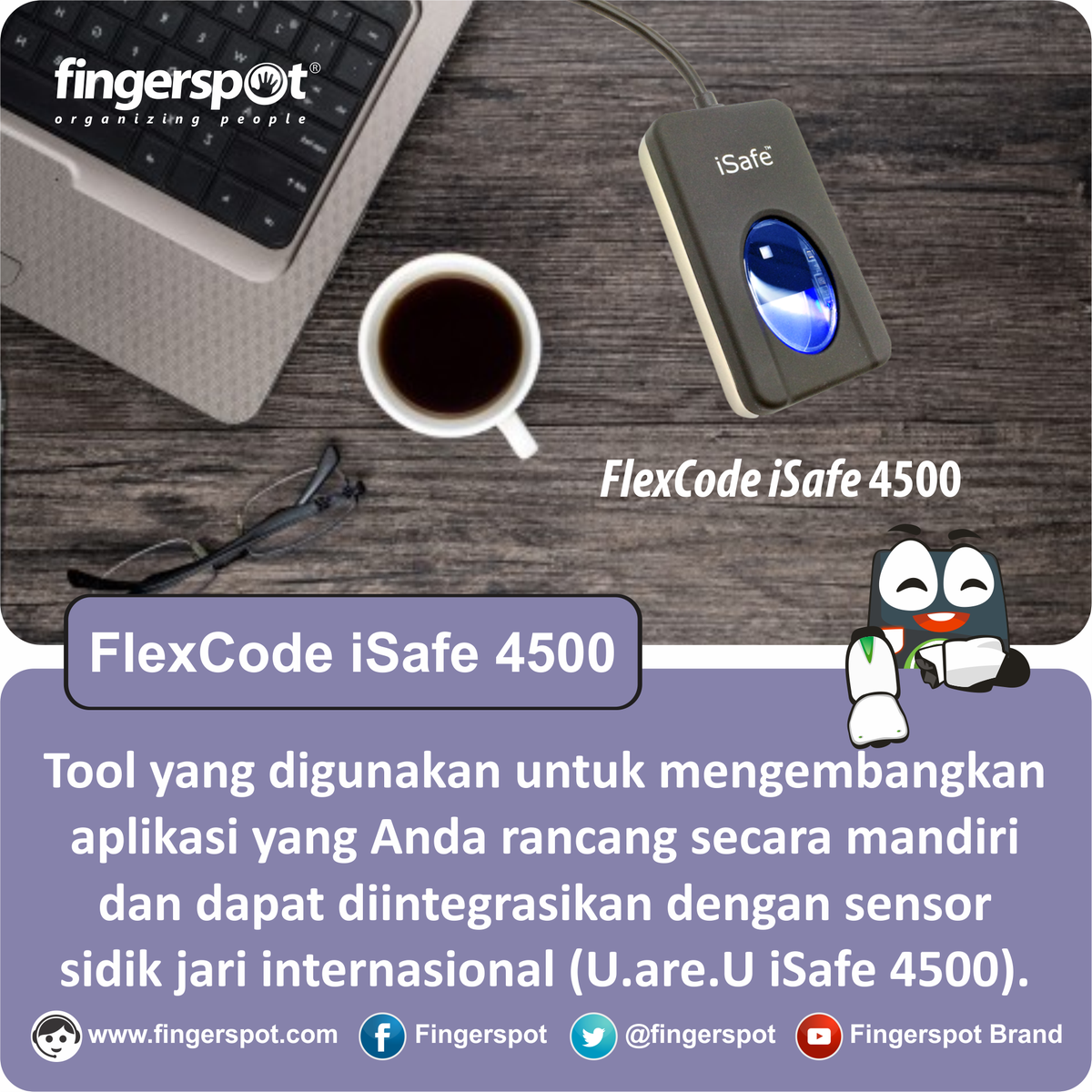 Fingerspot Flexcode Isafe 4500 Sensor Fingerprint Dan Sdk Cek Neo 151nc Alat Absensi Sidik Jari Terbaik Terpercaya You Should Use For Developing Your Own Attendance Software Check This Out On