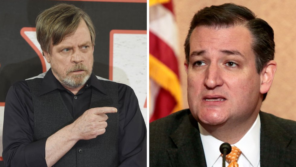 Mark Hamill blasts Cruz: Did you call me by the wrong name because you were distracted by porn again? https://t.co/d3NhZ98fCO