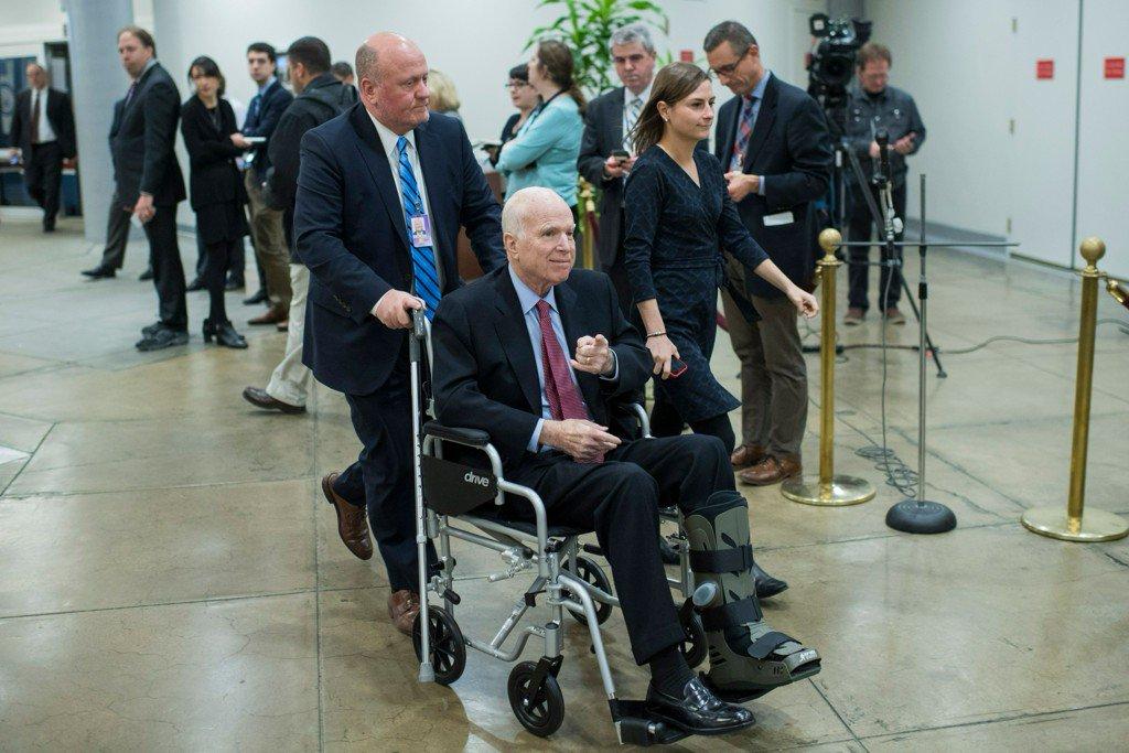 Report: Sen. John McCain will return to Arizona, miss vote on tax bill https://t.co/Bh6ENwyE8j