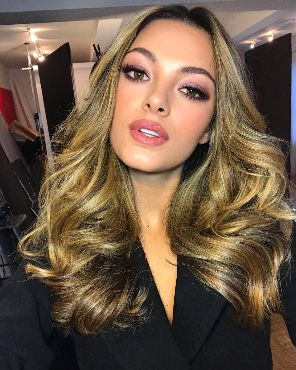 #MissUniverse @DemiLeighNP wrapped her first official photo shoot shot by @fadilberisha! ❤️ . . Who's excited to see the photos? ✋