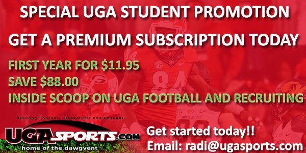 Getting a ton of students asking for the UGASports 88% off deal. Love it. Record number of subscribers making this possible.   FAQ responses:  - Open to any student at any school with a .edu address - Can only be used once.  - Jake is a Scorpio.  - Email me for promo code.