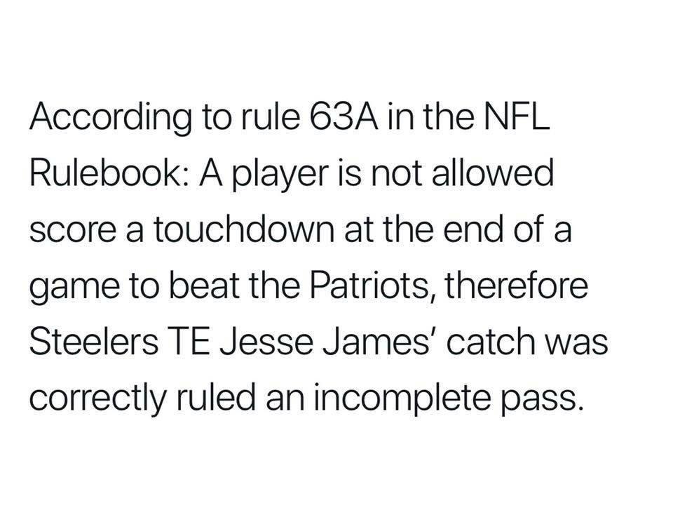 This rule was established after Super Bowl 46..