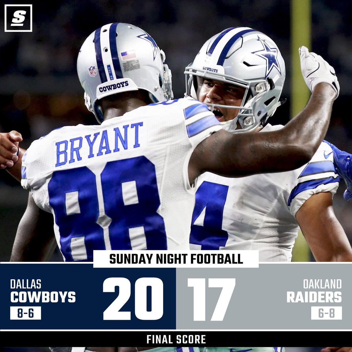Cowboys pick up the W.