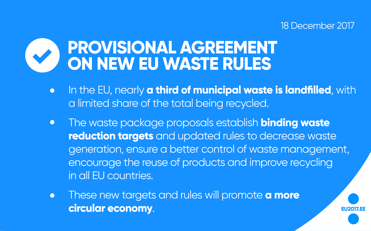 Estonia In The Eu On Twitter Provisional Agreement On New Eu Waste