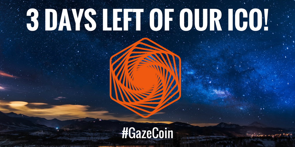 You haven&#39;t got long left to get #GazeCoin - sign up to our #ICO here before it&#39;s too late! gazecoin.io #VR #AR #crypto <br>http://pic.twitter.com/RUQCalFq3g