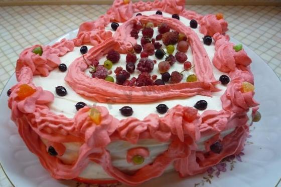 Бисквитный торт с безе рецепт с фото