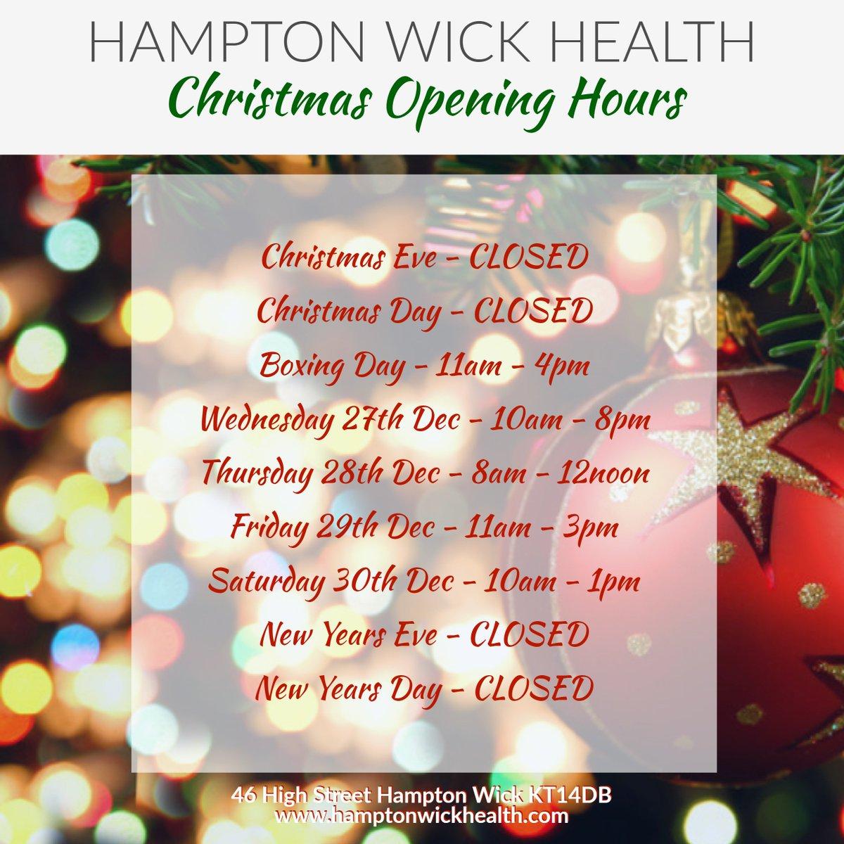 Hampton Wick Health on Twitter: \