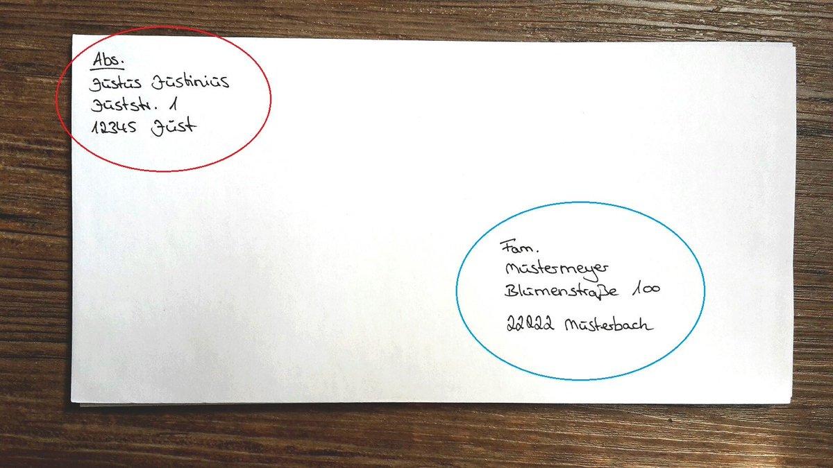 Richtig Briefe Schreiben Post : Familie on twitter quot briefe und pakete richtig