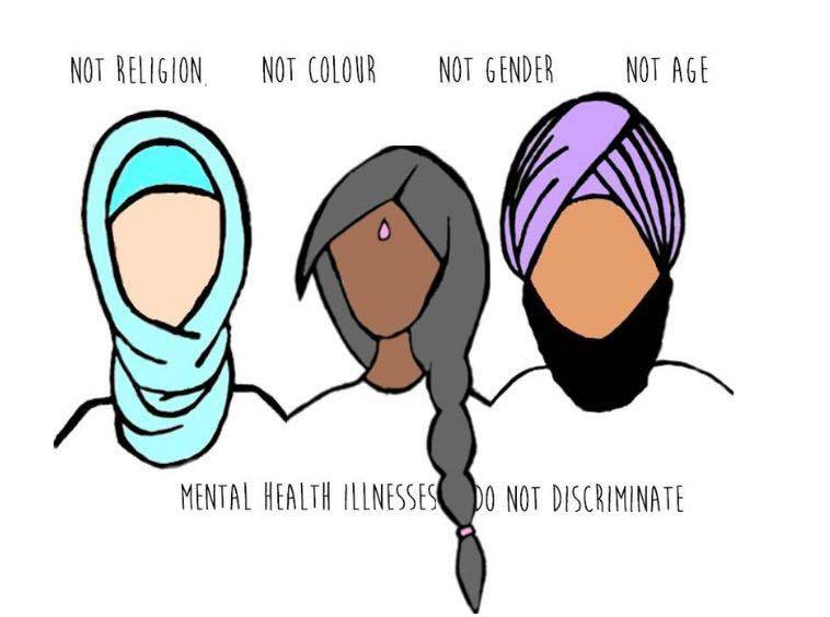 There is no discrimination when it comes to #mentalhealth! Be mindful that any one of us might be suffering. Source: Unknown <br>http://pic.twitter.com/eatNoK9aDg