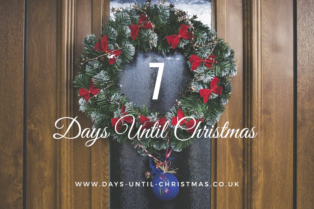 Days Till Christmas Uk.Days Until Christmas On Twitter 7 Days To Go This Time