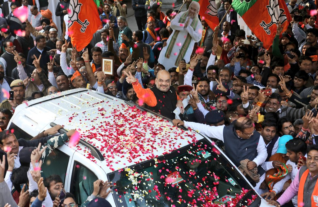 BJP wins Gujarat Assembly polls, tramples Congress in Himachal