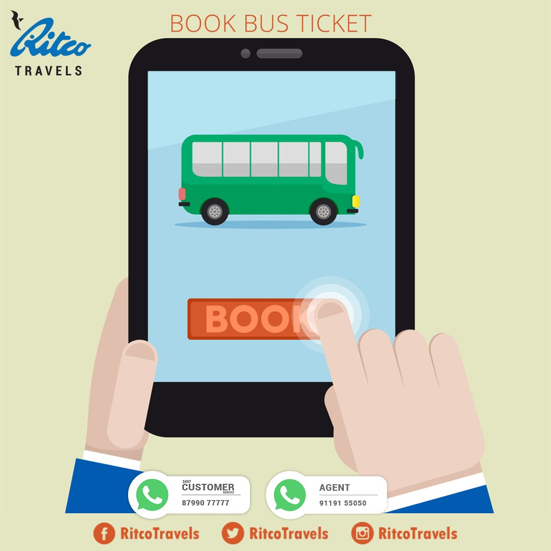 """ritco travels on twitter: """"book your bus ticket with the comfort of"""