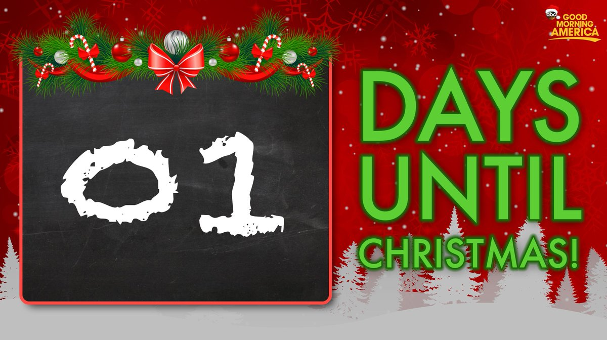 merry christmas eve only 1 day until christmas - Merry Christmas Eve