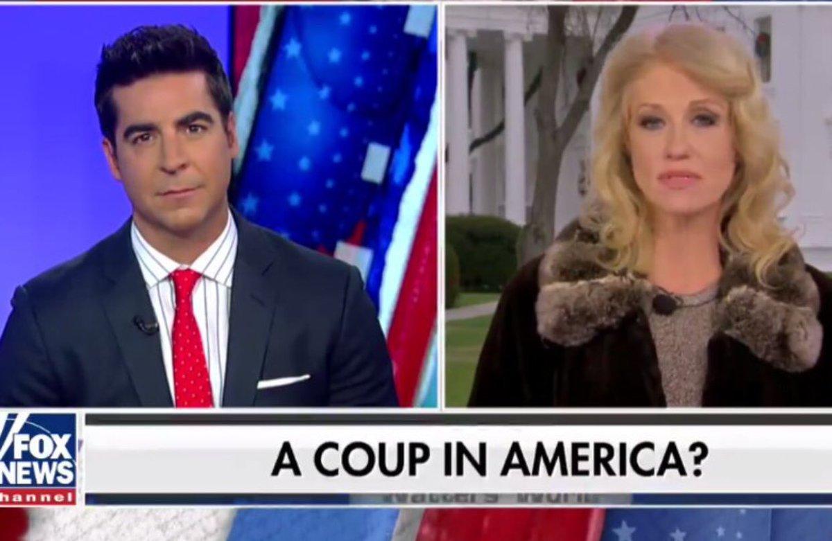 """#tp """"A coup in America"""" ? Le titre hallucinant et dangereux sur Fox News ce week-end."""