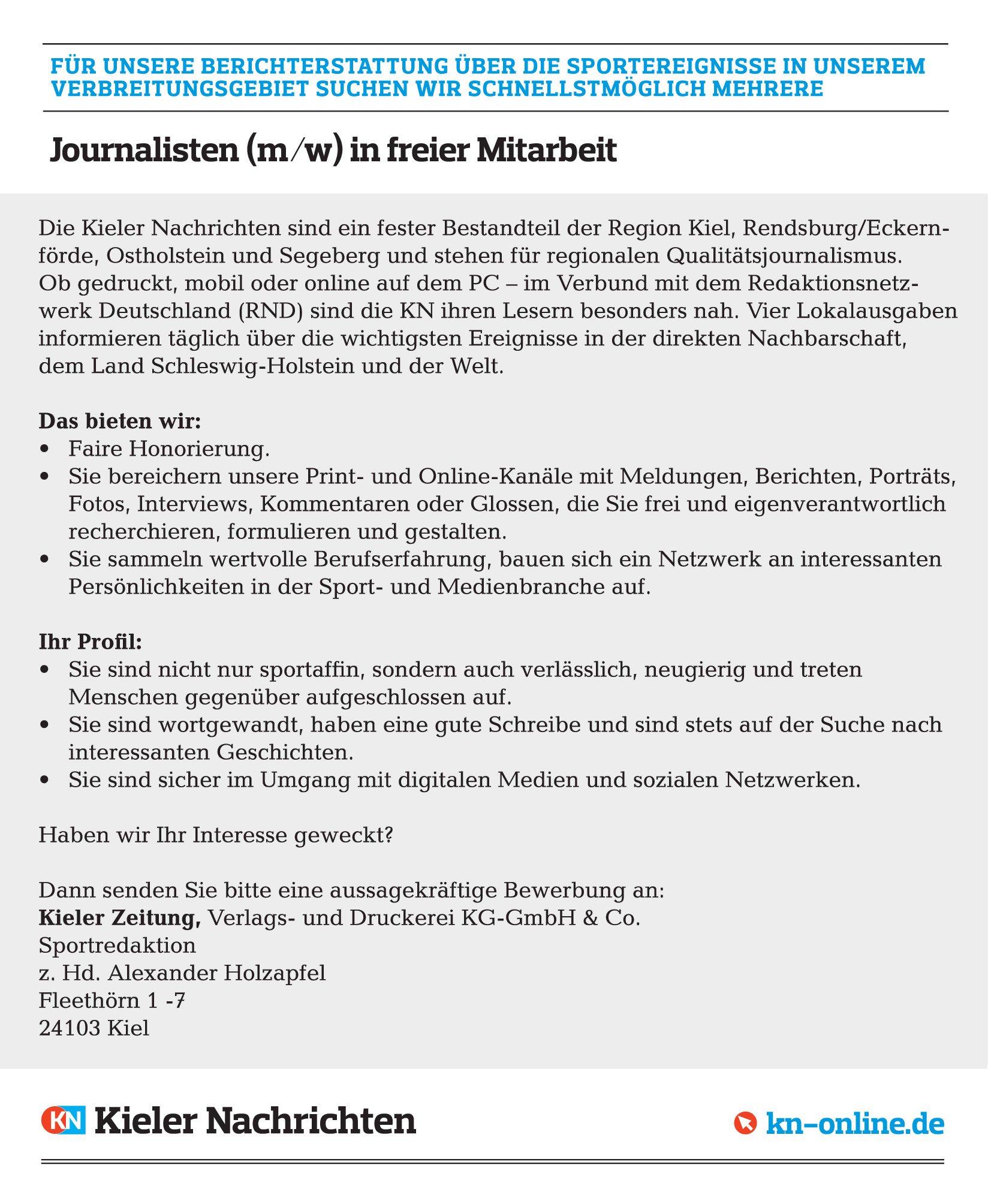 Kieler Nachrichten on Twitter: \