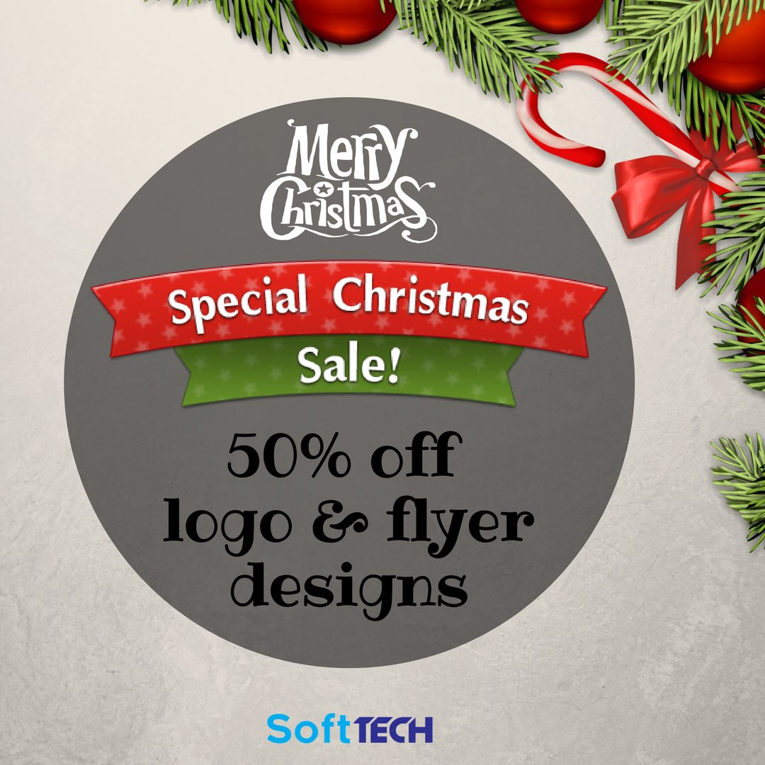 It's SoftTECH Special Christmas Sale- get your designs at 50% off! Send us a DM for more information. #graphicdesign #graphicart #graphicdesigner #startup #entrepreneur #companylogo #softtech <br>http://pic.twitter.com/Fq1TDCDVfP