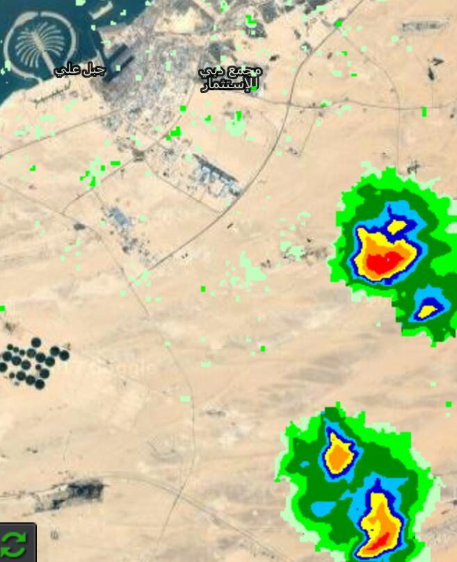 RT @we365a: الآن ،، أمطار قد تكون غزيرة جنوب #دبي #طقس #أمطار https://t.co/pORYGsO2FL