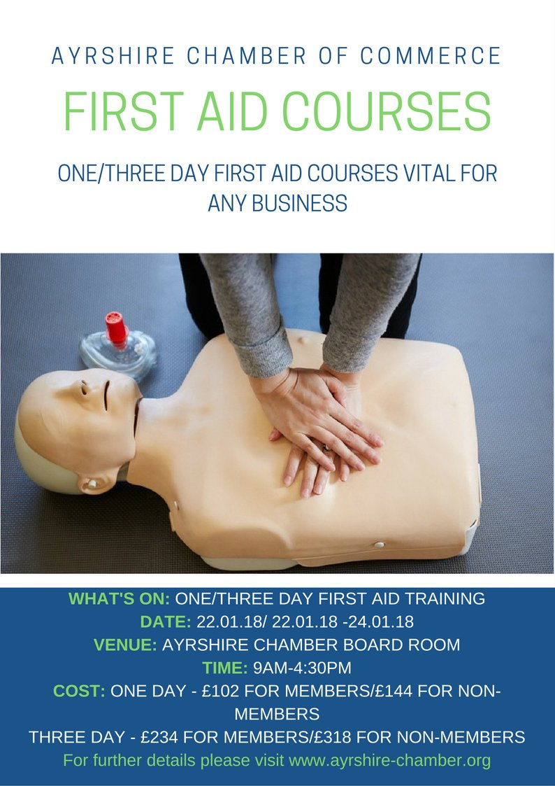 Don't forget to book your First Aid Courses in January #WellConnected bit.ly/2BjLAmc